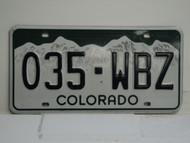 COLORADO License Plate 035 WBZ