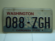 Washington Evergreen State License Plate 088 ZGH
