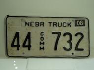 2004 NEBRASKA Commercial Truck License Plate 44 732