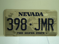 NEVADA Silver State License Plate 398 JMR