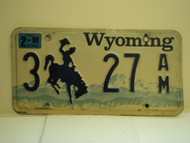 1998 WYOMING Bucking Bronco License Plate 3 27 AM