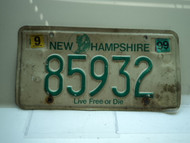 1999 NEW HAMPSHIRE Live Free or Die License Plate 85932