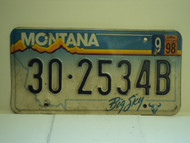 1998 MONTANA Big Sky License Plate 30 2534B