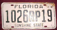 Brevard Co Florida License Plate 1026RP19