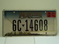 2007 MONTANA Big Sky License Plate 6C 14608