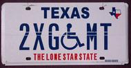 Texas Error Plate Wheelchair Flat