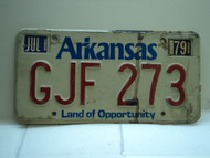1979 ARKANSAS Natural State License Plate GJF 273