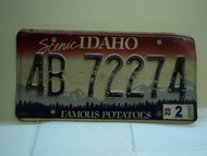 2002 IDAHO Famous Potatoes License Plate 4B 72274