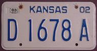 Kansas 2003 Dealer License Plate