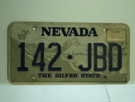 2001 NEVADA Silver State License Plate 142 JBD