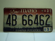 2005 IDAHO Famous Potatoes License Plate 4B 66462 1