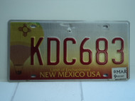 2009 NEW MEXICO Land of Enchantment License Plate KDC683