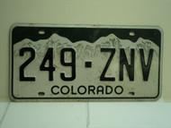 COLORADO License Plate 249 ZNV
