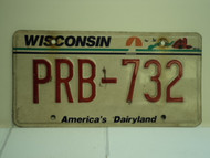 WISCONSIN America's Dairyland License Plate PRB 732