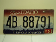 2003 IDAHO Famous Potatoes License Plate 4B 88791