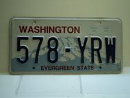 Washington Evergreen State License Plate 578 YRW