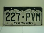 COLORADO License Plate 227 PVM