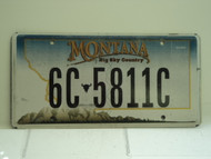 MONTANA Big Sky License Plate 6C 5811C