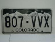 COLORADO License Plate 807 VVX