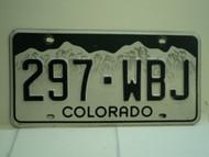 COLORADO License Plate 297 WBJ