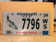 2011 Mississippi 7796 Conserving Wildlife License Plate