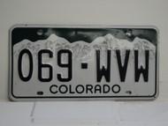 COLORADO License Plate 069 WVW