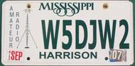 2007 Mississippi Amateur Radio License Plate