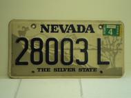 2000 NEVADA Silver State License Plate 28003 L