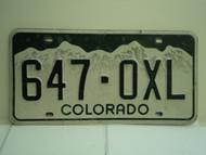 COLORADO License Plate 647 OXL