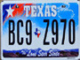 New Texas License Plate 1