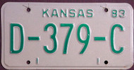 Kansas Dealer 1983 License Plate