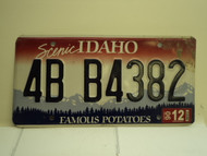2006 IDAHO Famous Potatoes License Plate 4B B4382