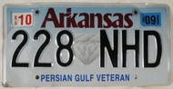 2009 Arkansas Persian Gulf Veteran License Plate