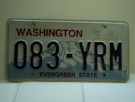 Washington Evergreen State License Plate 038 YRM
