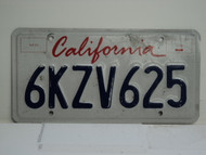 CALIFORNIA Lipstick License Plate 6KZV625