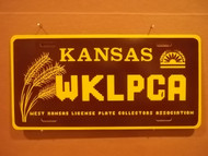 Kansas WKLPCA License Plate 2