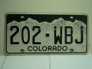 COLORADO License Plate 202 WBJ
