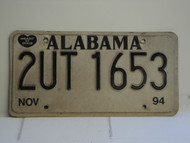 1994 ALABAMA Heart of Dixie License Plate 2UT1653