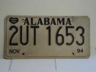 1994 ALABAMA Heart of Dixie License Plate 2UT1653