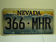 NEVADA Silver State License Plate 366 MHR