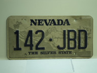 NEVADA Silver State License Plate 142 JBD