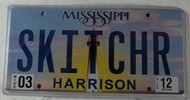 2012 Mar Mississippi Vanity License Plate SKITCHR