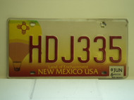 2006 NEW MEXICO Land Of Enchantment License Plate HDJ335