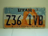 UTAH Life Elevated License Plate Z36 1VB