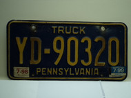 1998 1999 PENNSYLVANIA Truck License Plate YD 90320