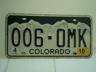 2010 COLORADO License Plate 006 OMK
