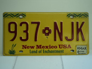 2006 NEW MEXICO Land of Enchantment License Plate 937 NJK