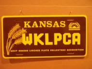 Kansas WKLPCA License Plate
