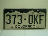 COLORADO License Plate 373 OKF