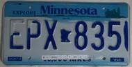Minnesota EPX 835 License Plate
